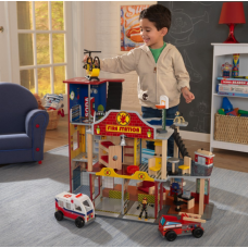 Пожарная станция Deluxe Fire Rescue Set Kidkraft 63214
