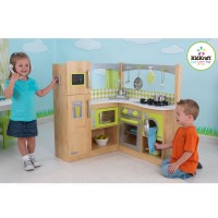 Детская кухня Kidkraft Limited Edition Natural Lime Corner Kitchen 53274